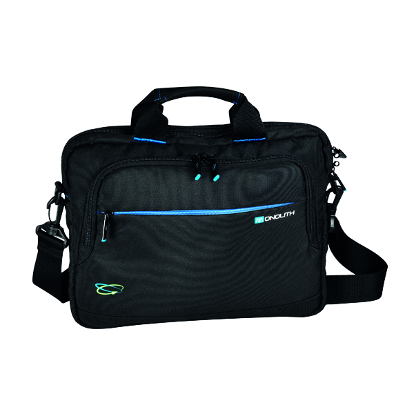 Bags & Cases Monolith Blue Line Chrome Briefcase 13.3in