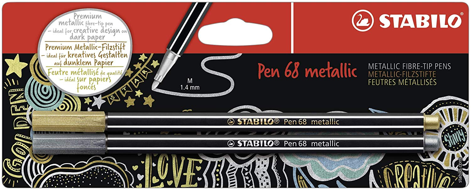 Stabilo Pen 68 Metallic GD SL PK2