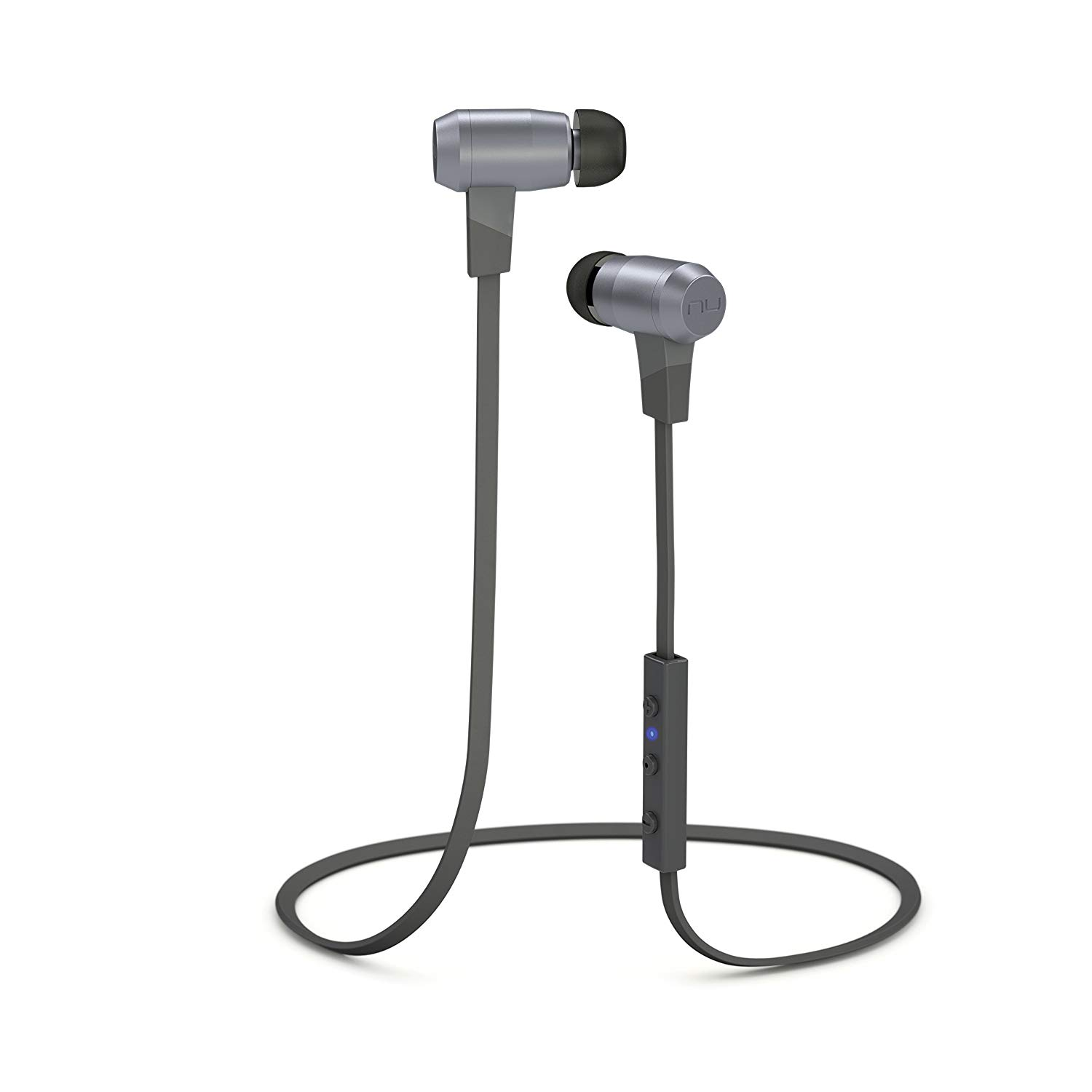 Telephones NuForce BE6 Grey Bluetooth Earphones