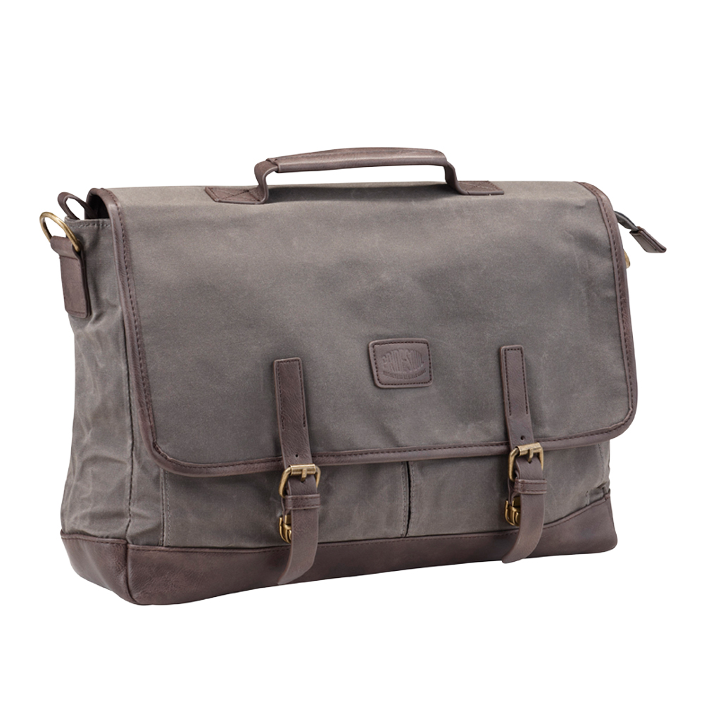 Briefcases & Luggage Pride and Soul Vegas Laptop Bag for Laptops up to 15 inch Grey/Brown