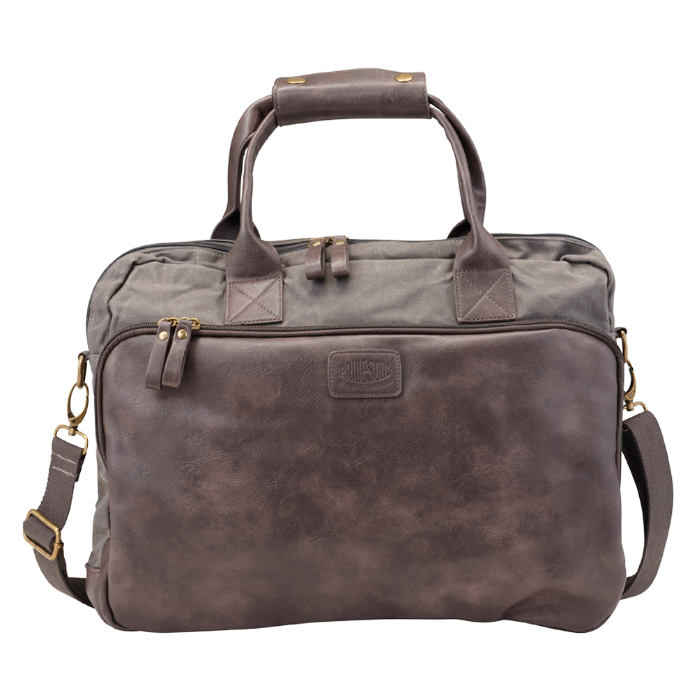 Bags & Cases Pride and Soul Mystify Laptop Bag for Laptops up to 15 inch Grey/Brown