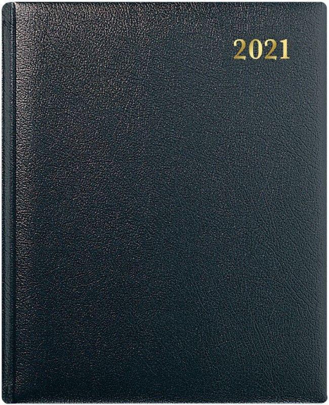 Collins QB7 Leather Quarto WTV Appoinments 2021 Diary Black