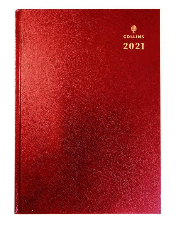 Collins 52 A5 Day to Page 2021 Diary Red