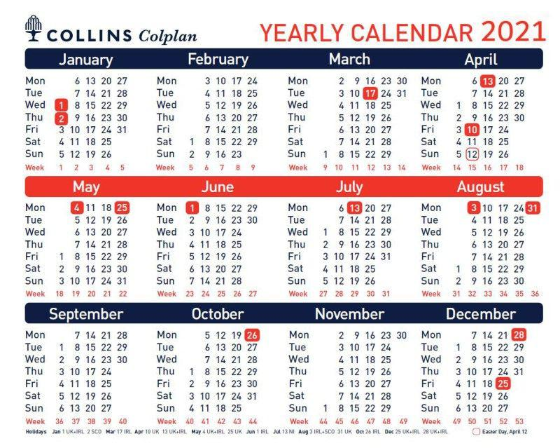 Collins Colplan CDS1 A4 2021 Yearly Planner