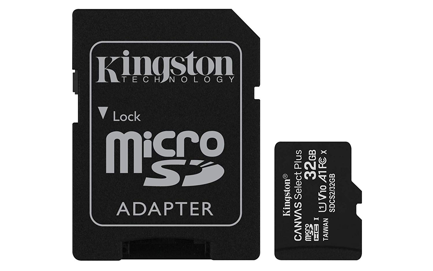 Hard Drives 32GB CS Plus C10 MicroSDHC and Adapter