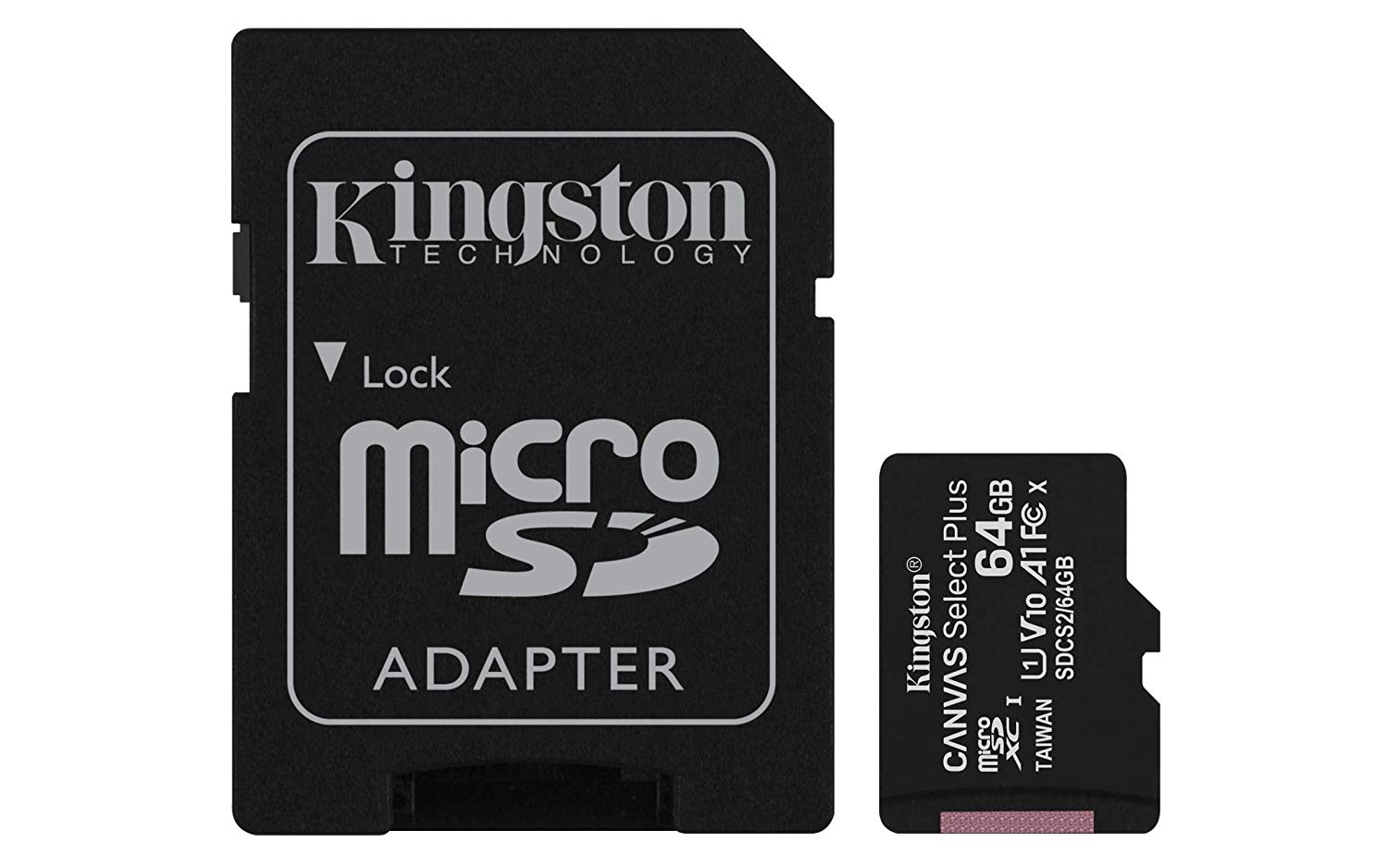 Hard Drives 64GB CS Plus C10 MicroSDHC and Adapter