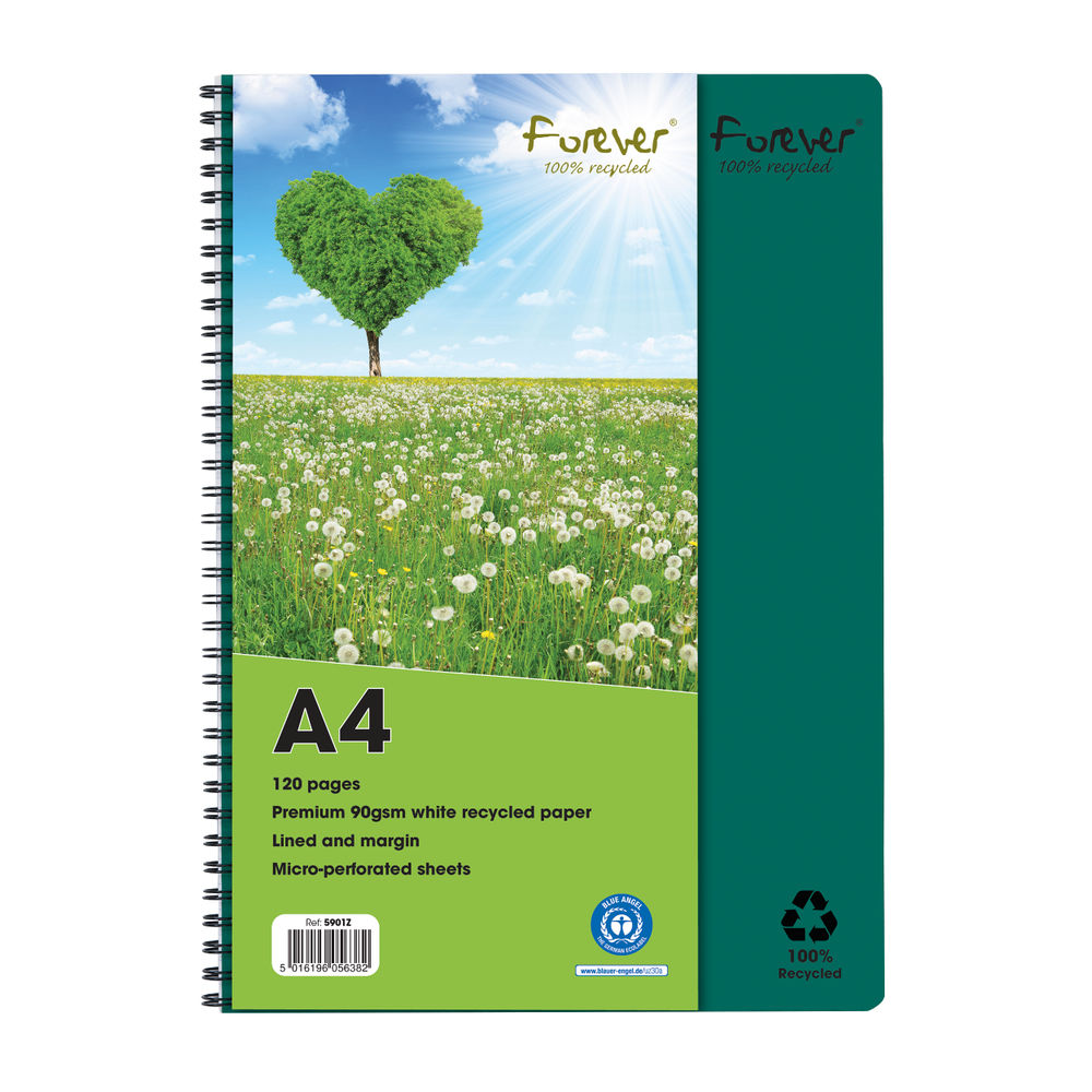 Forever Notebook A4 Green PK5