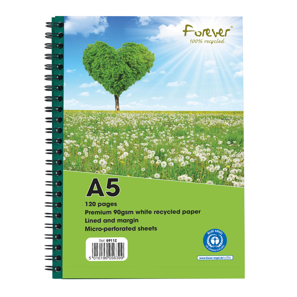 Forever Notebook A5 Green PK10