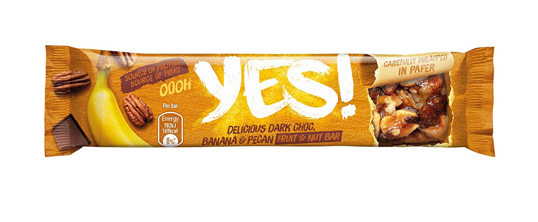 Yes Banana Pecan and Dark Choc 24x35g