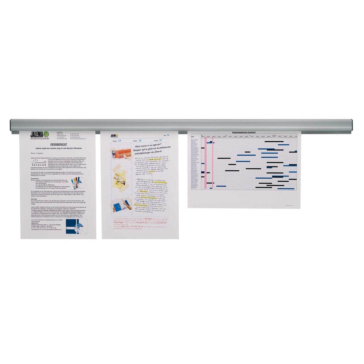 Jalema Grip Display Rail 900mm with Magnet Attachment