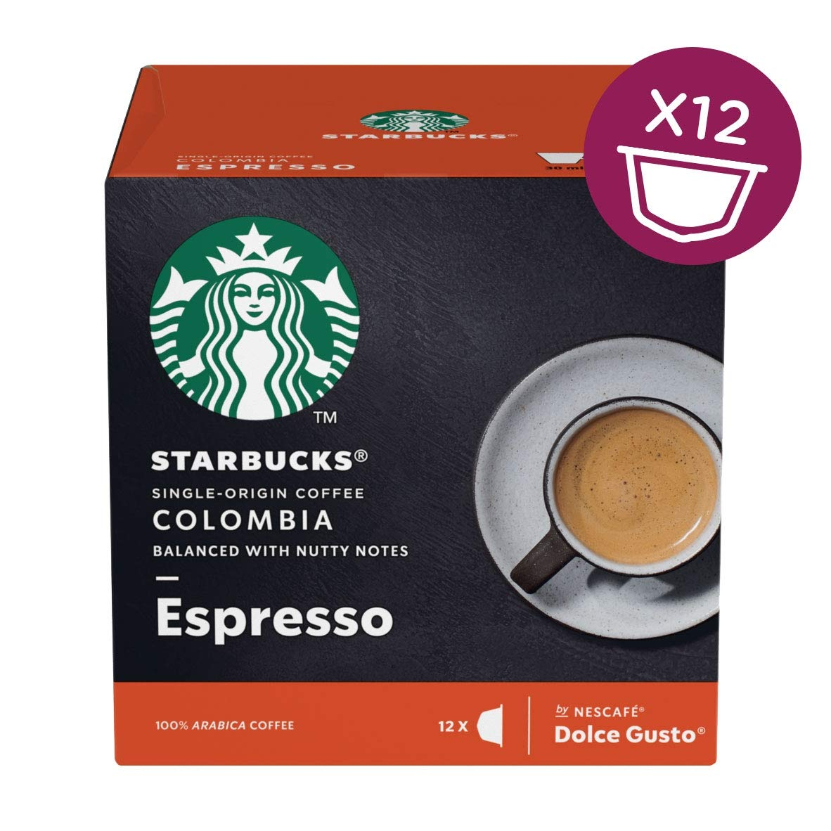 STARBUCKS by Dolce Gusto Colombia Med Gusto Espresso PK3