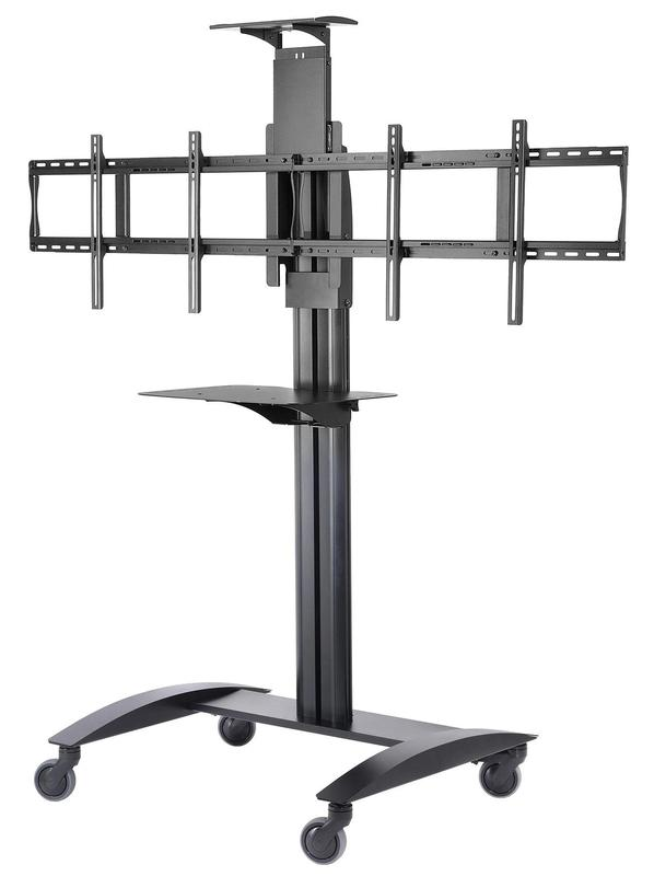 Monitors / Interactive Displays Flat Panel Cart for 2x 40in to 55in TVs