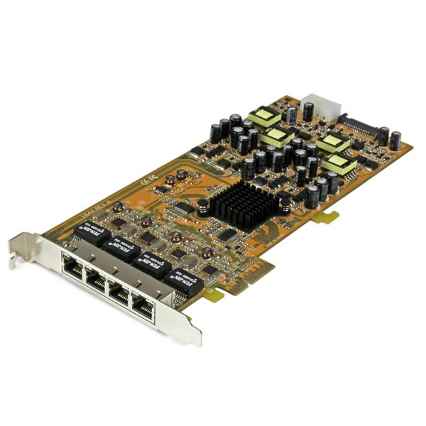 Servers StarTech 4 Port Gigabit PoE PCIe NIC