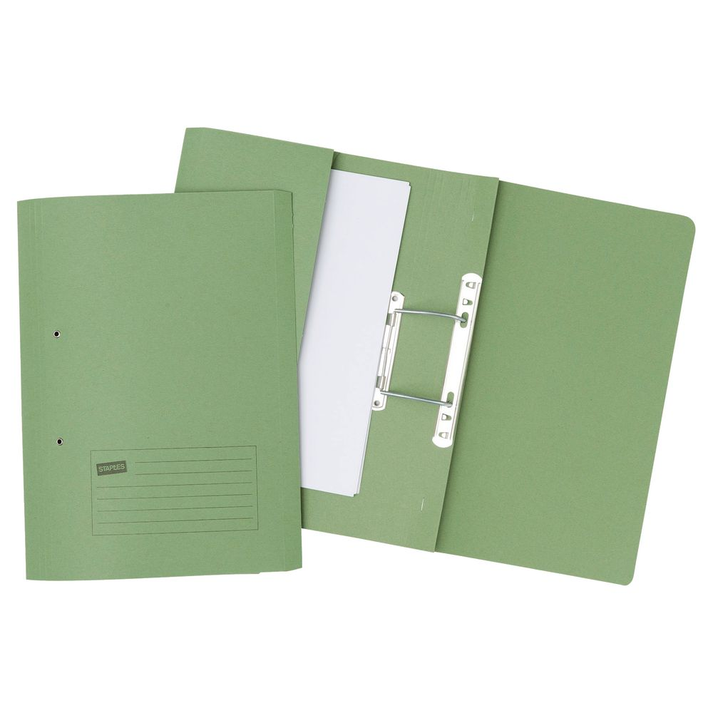 Forever Pocket Spiral File Foolscap Green PK25
