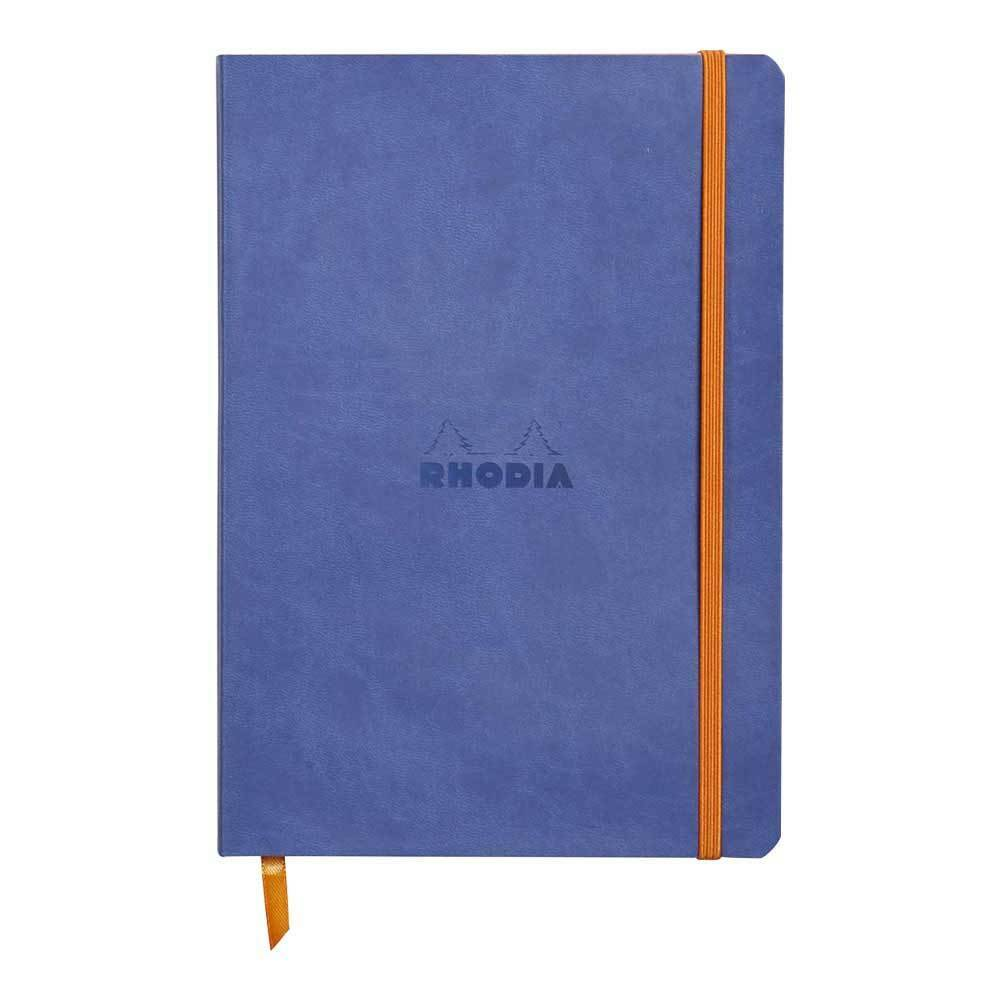 Rhodiarama A5 Soft Cover Casebound Notebook Ruled 160 Pages Sapphire Blue BOGOF