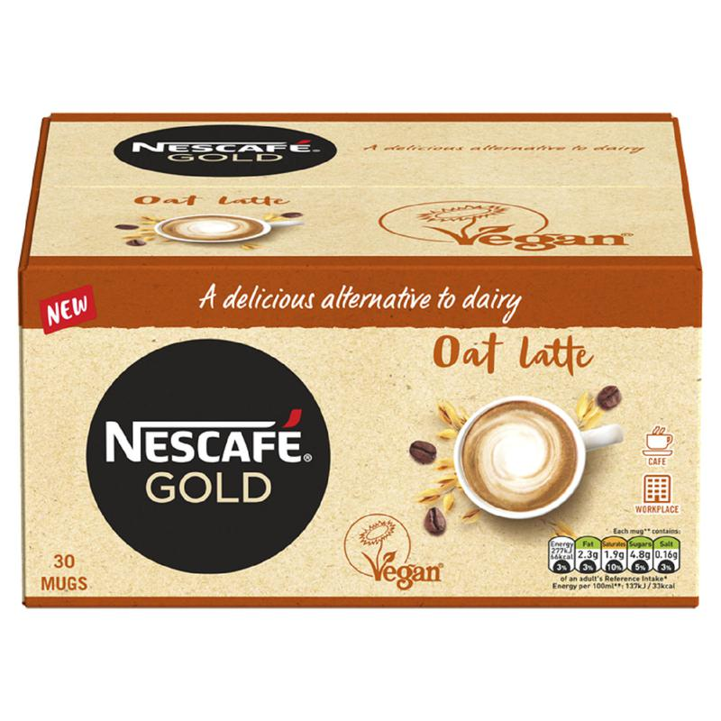 Coffee Nescafe Gold Oat Latte Instant Coffee Sachets 16g (Pack 30)