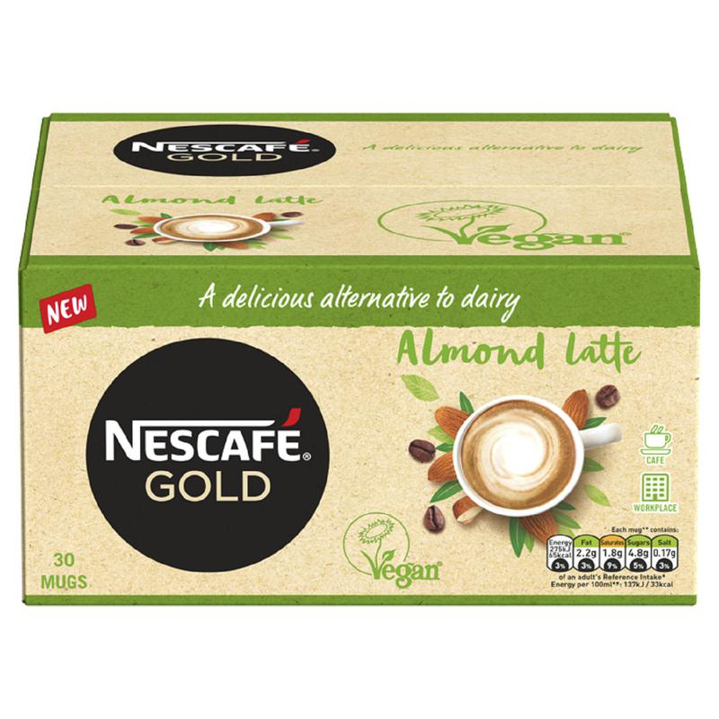 Coffee Nescafe Gold Almond Latte Instant Coffee 16g Sachets (Pack 30)