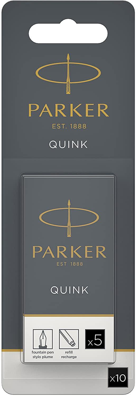 Cartridge PARKER QUINK Long Fountain Pen Ink Cartridges Black PK10