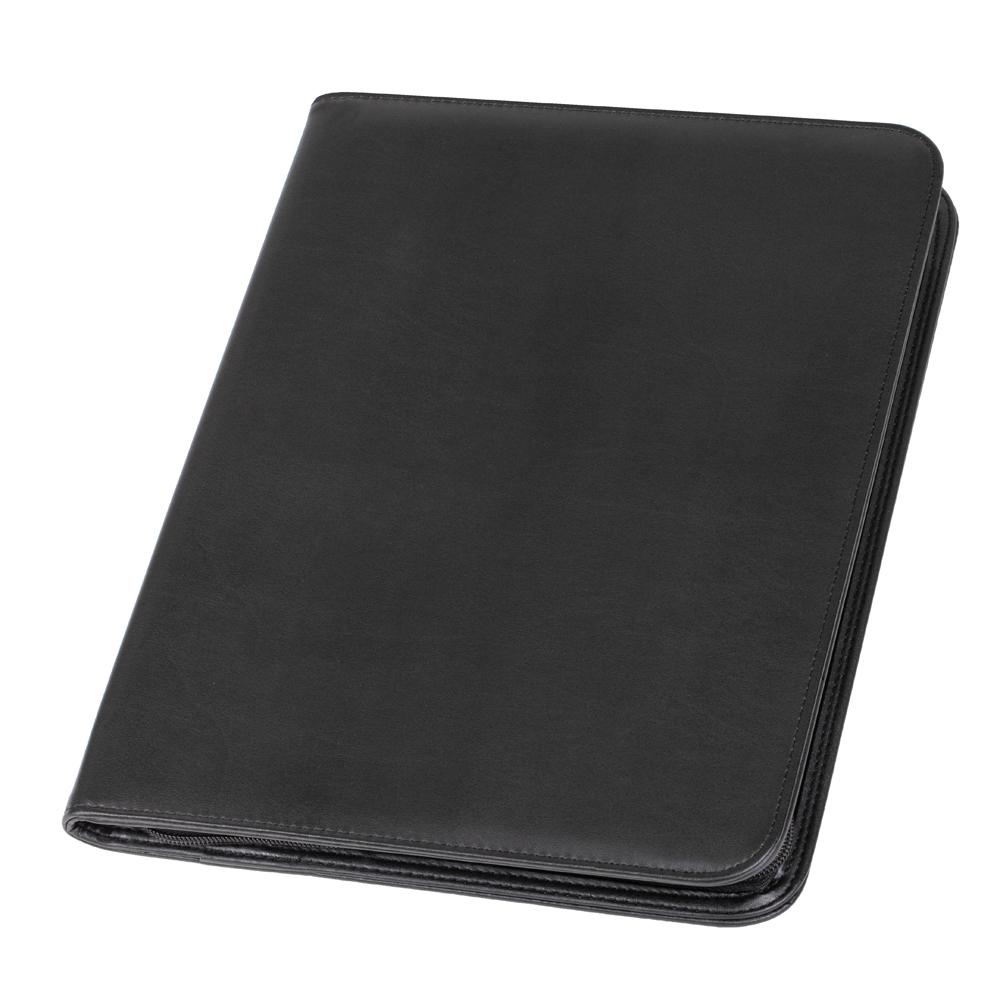 Potfolios Alassio Lorenzo A4 Organiser File Leather Black