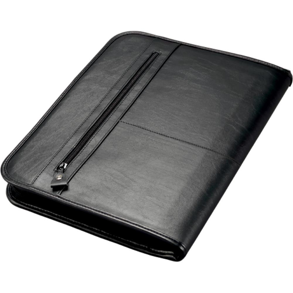 Potfolios Alassio Limone A4 Organiser File Leather Look Black