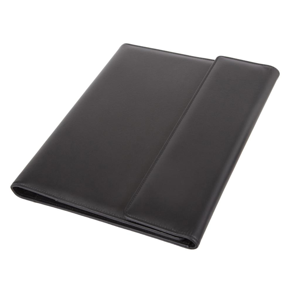 Potfolios Alassio Salvo A4 Organiser File Leather Black