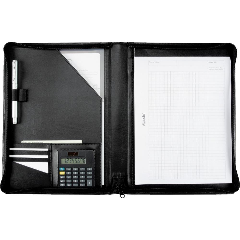 Potfolios Alassio Catana A4 Writing Case Leather Black