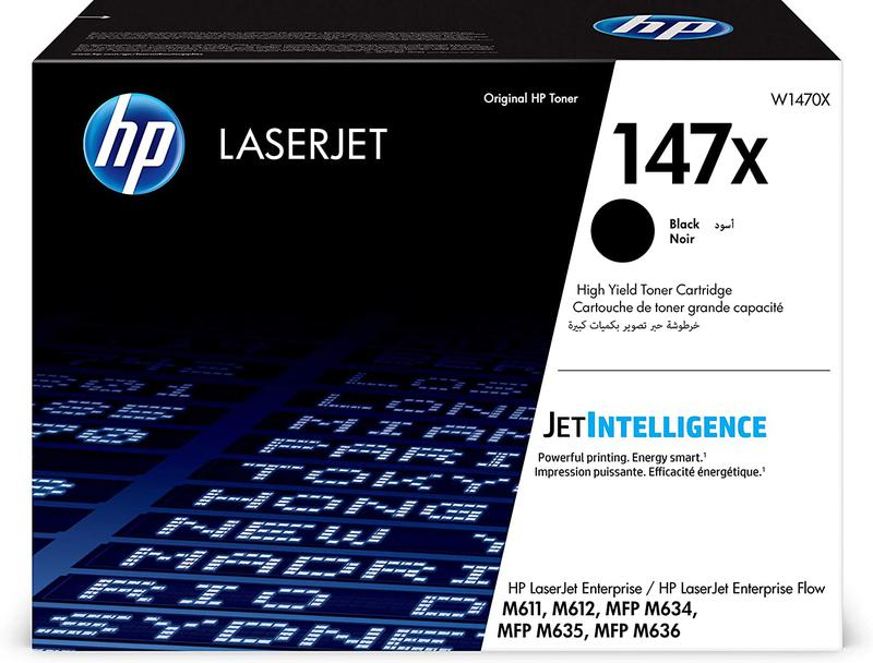 Laser Toner Cartridges HP 147X Black Standard Capacity Toner 25.2K pages W1470X
