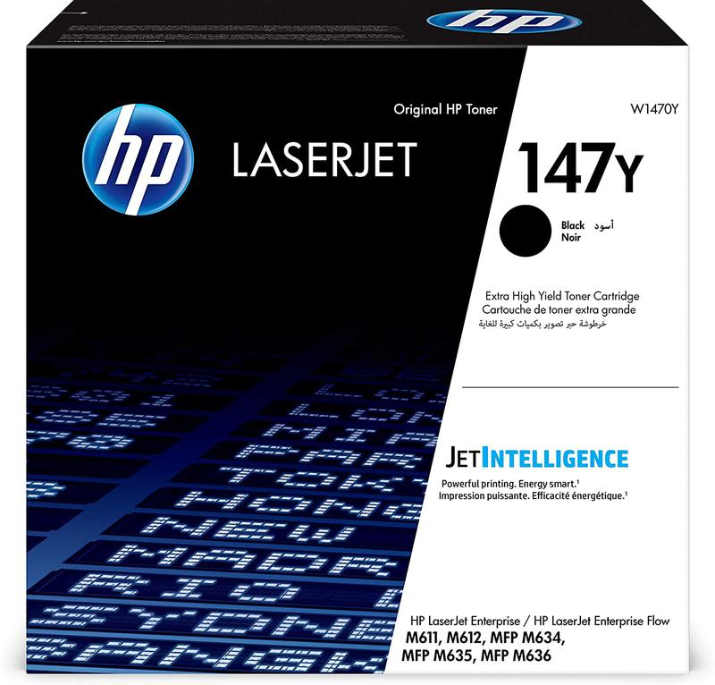 Laser Toner Cartridges HP 147Y Black Standard Capacity Toner 42K pages W1470Y