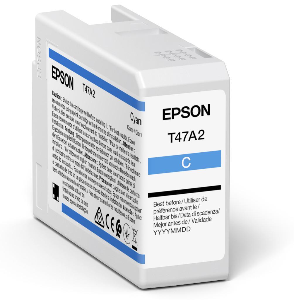 Inkjet Cartridges Epson Cyan T47A2 Pro10 Ink Cartridge 50Ml