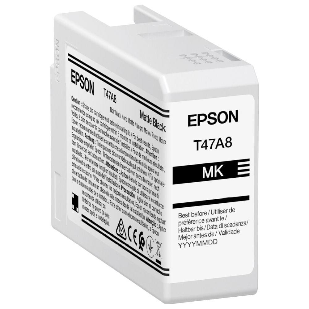Inkjet Cartridges Epson Matte Black T47A8 Pro10 Ink Cartridge 50Ml