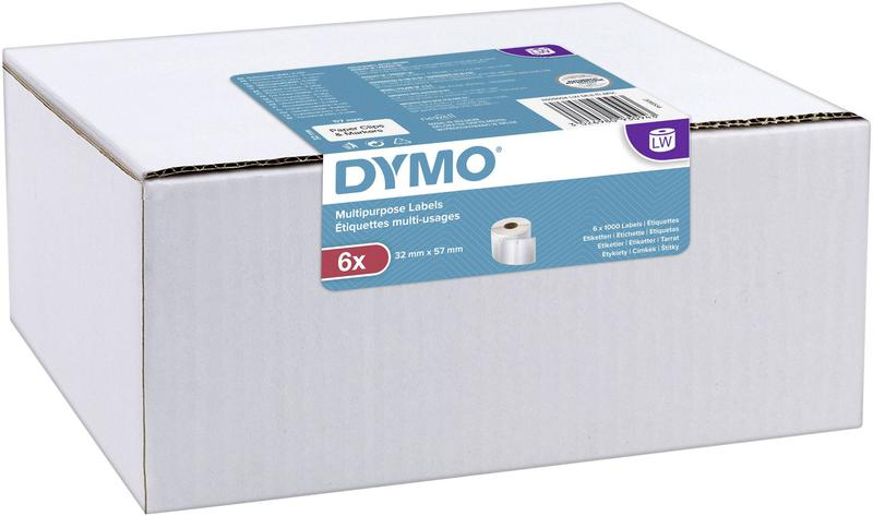 Labelling Tapes & Labels Dymo Label Writer Multi-Purpose Labels 32mmx57mm 6 Pack