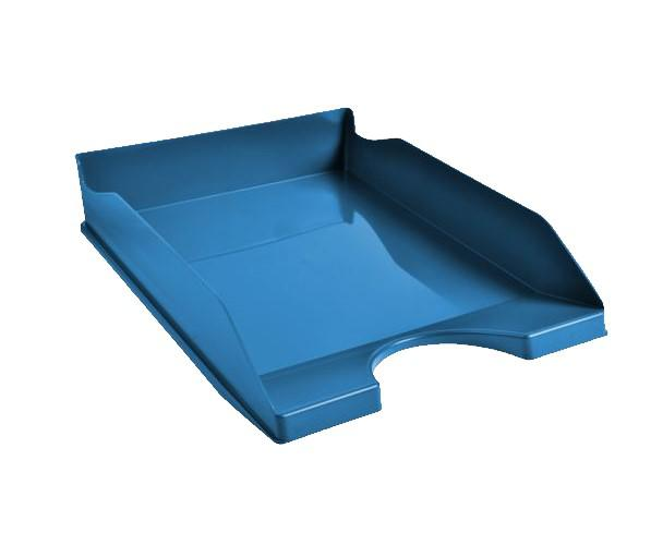 Letter Trays Exacompta CleanSafe Letter Tray A4/Foolscap Portrait Blue