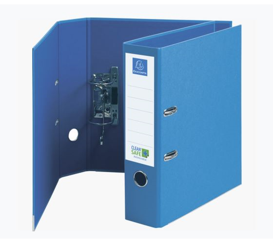 Lever Arch Files Exacompta CleanSafe Lever Arch File Paper on Board A4 70mm Spine Width Blue (Pack 10)