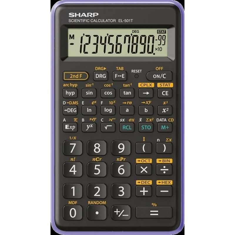 Scientific Calculator Sharp EL501 12 Digit Scientific Calculator Black/Purple