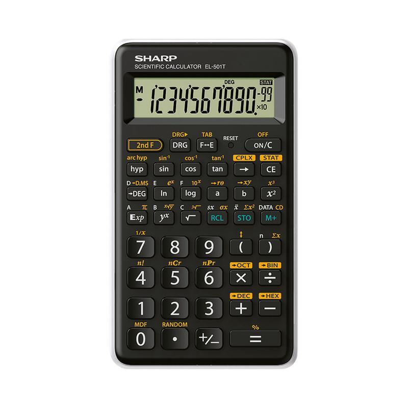 Scientific Calculator Sharp EL501 12 Digit Scientific Calculator Black/White