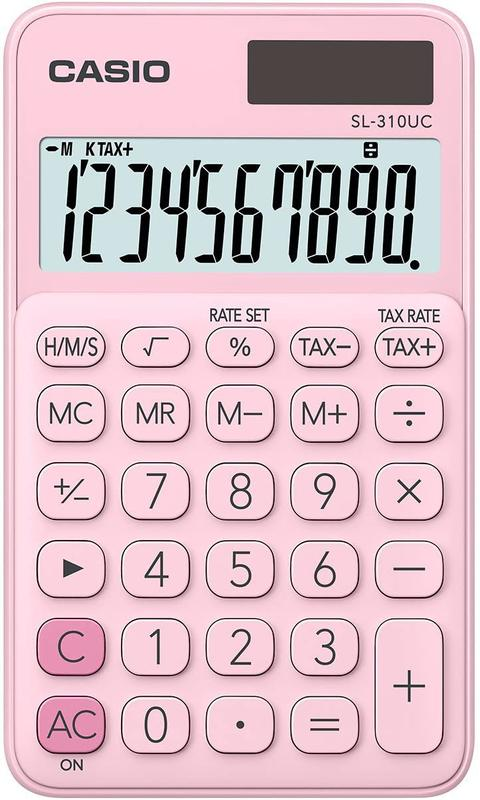 Handheld Calculator Casio SL-310 Pocket Calculator Pink