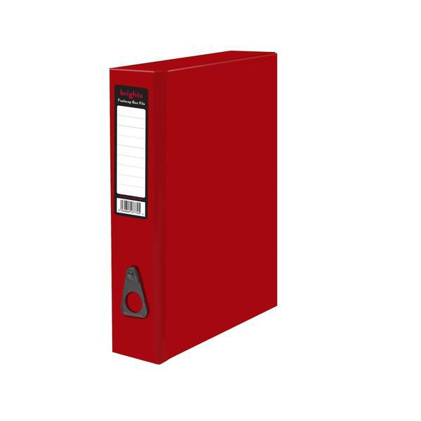 Box Files Pukka Brights Box File Foolscap Red Box of 10