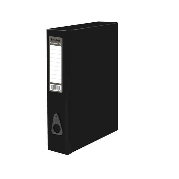 Pukka Brights Box File Foolscap Black Box of 10
