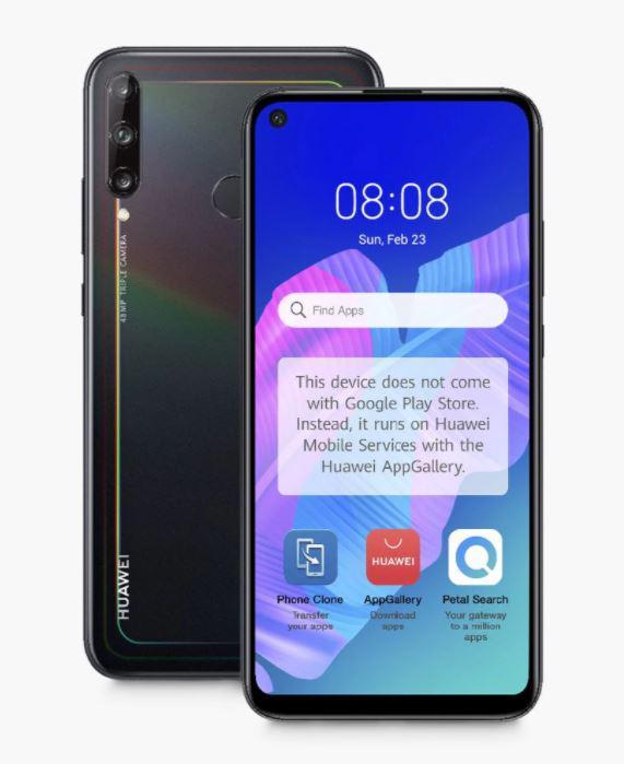 Mobile Phones P40 Lite E 4GB 64GB Midnight Black