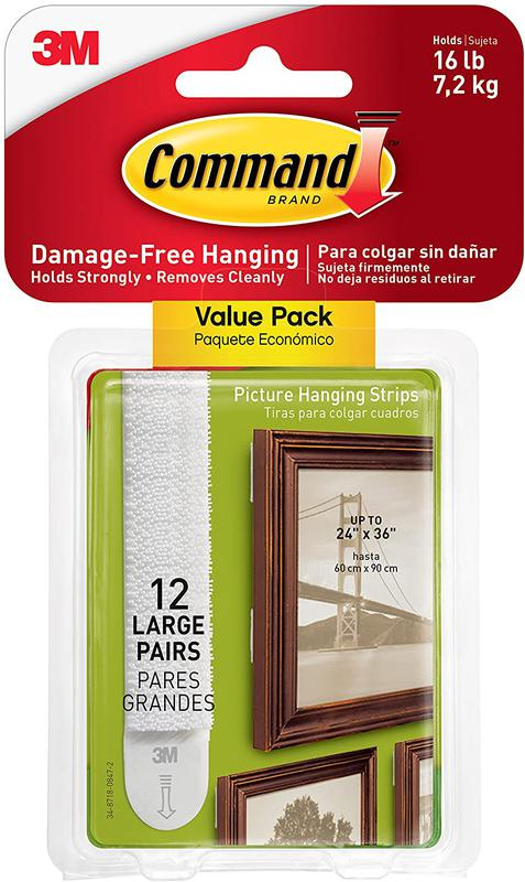 Command Large Picture Hanging Strips PK12 17206