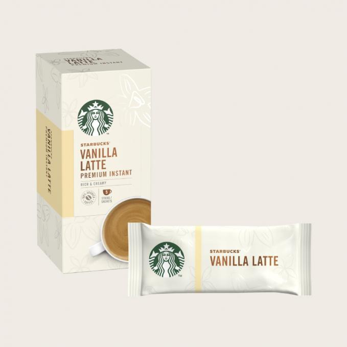 Coffee STARBUCKS Vanilla Latte Instant Coffee Sachets (Pack 5)