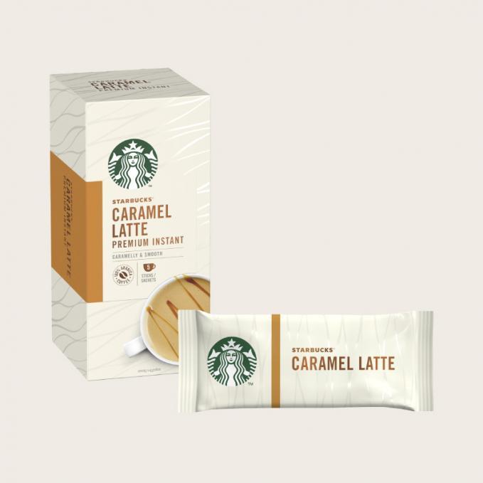 Coffee STARBUCKS Caramel Latte Instant Coffee Sachets (Pack 5)