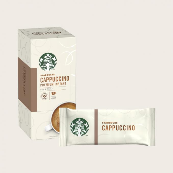 Coffee STARBUCKS Cappuccino Instant Coffee Sachets (Pack 5)