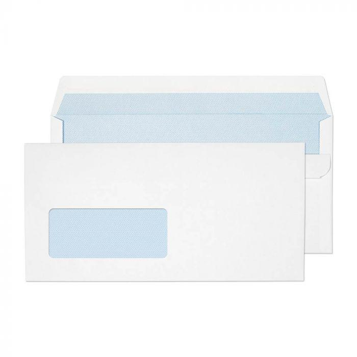 DL Wallet Envelopes S/S White Window 90gsm Box 500