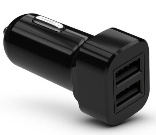 Accessories KIT Dual USB A Car Charger 3A Black