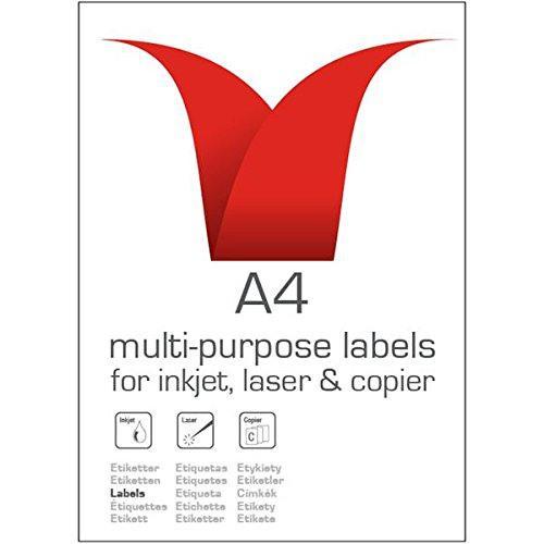 ValueX Multipurpose Label 210x297mm 1 Per A4 Sheet White (Pack 100 Labels)