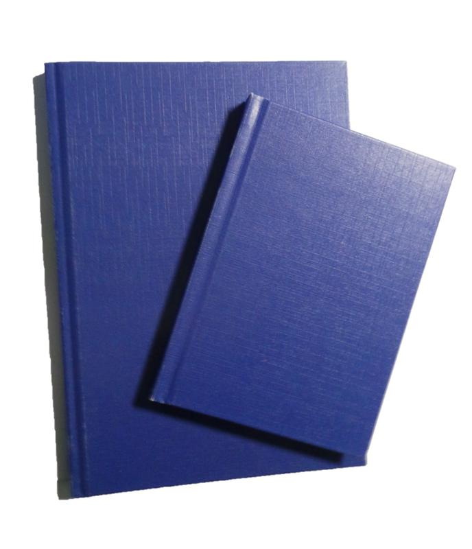 ValueX A6 Casebound Hard Cover Notebook Ruled 192 Pages Blue