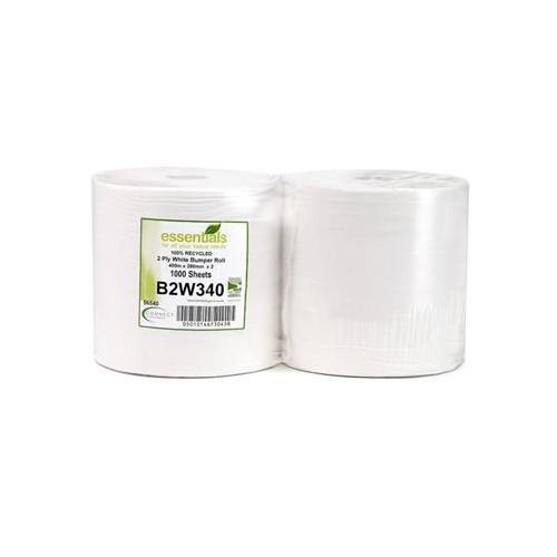 Toilet Tissue & Dispensers ValueX Bumper Cleaning Recycled Roll White 2ply