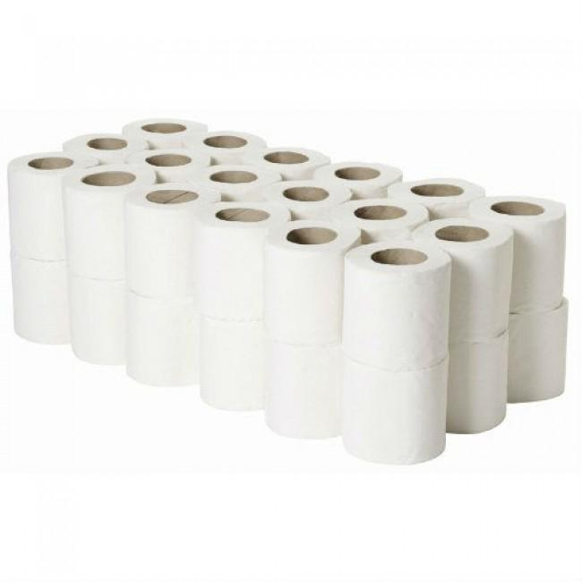 Toilet Tissue & Dispensers ValueX White Toilet Roll 2 Ply White (Pack 36)