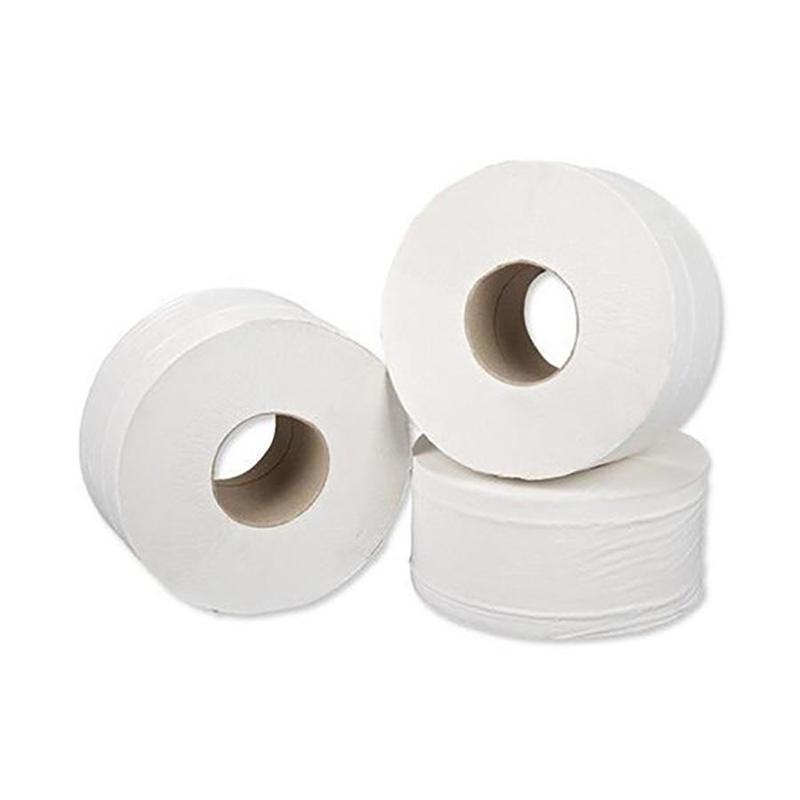 Toilet Tissue & Dispensers ValueX Mini Jumbo Toilet Roll 2 Ply 200m White (Pack 12)